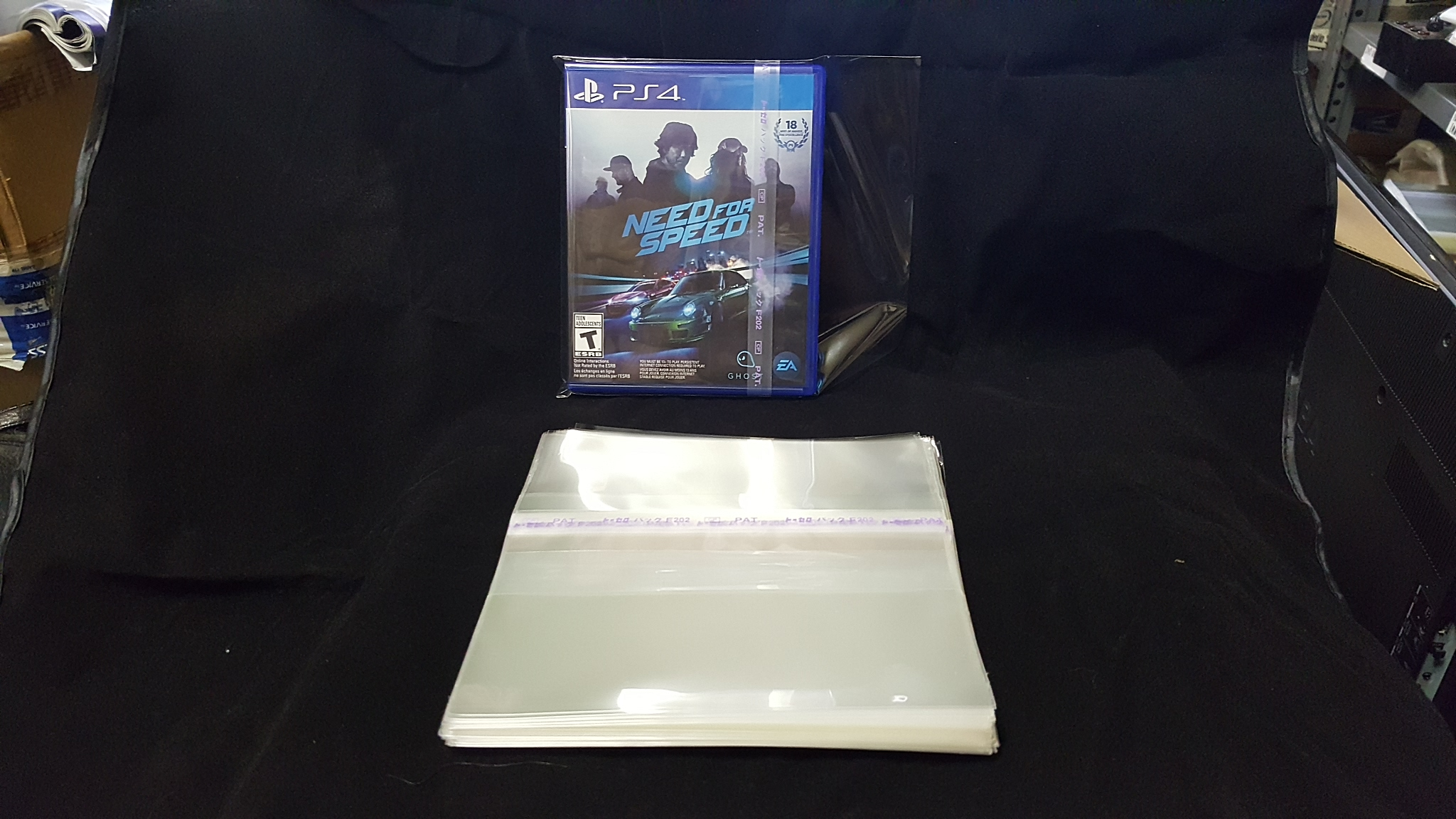 Blu-Ray Disc Case Resealable Sleeves Side Seal